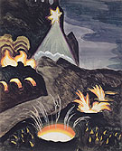 Star and Fires c1920 - Charles Burchfield