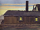 House in November Evening 1919 - Charles Burchfield