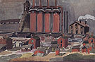 Factories 1919 - Charles Burchfield reproduction oil painting