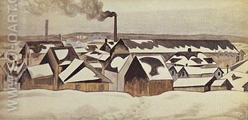 Snow Patterns 1920 - Charles Burchfield reproduction oil painting