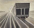 Passing Trains c1920 - Charles Burchfield
