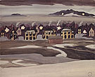 Village Light c1920 - Charles Burchfield reproduction oil painting