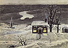 Cloud and Lonely Farmhouse c1920 - Charles Burchfield