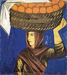 Woman Carrying Oranges c1910 - Natalia Gontcharova