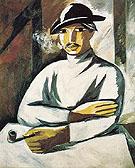 Smoker Tray Painting Style 1911 - Natalia Gontcharova