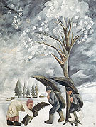 Winter Collecting Brushwood 1911 - Natalia Gontcharova