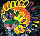 Peacock under a Bright Sun 1911 - Natalia Gontcharova