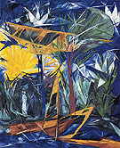 Rayonist Forest Yellow and Green 1913 - Natalia Gontcharova