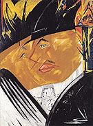 Portrait of Mikhail Larionov 1913 - Natalia Gontcharova
