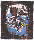 Hills Oak Tree 1987 - George Baselitz