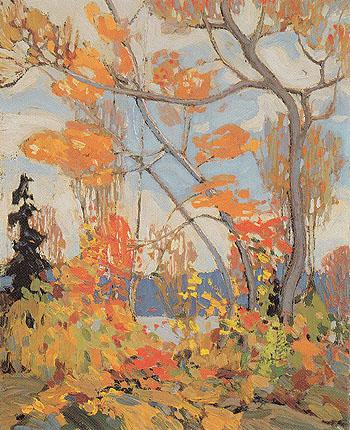 Autumn Algonquin Park c1915 - Tom Thomson reproduction oil painting