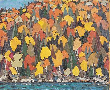 Autumn Foliage c1915 - Tom Thomson reproduction oil painting