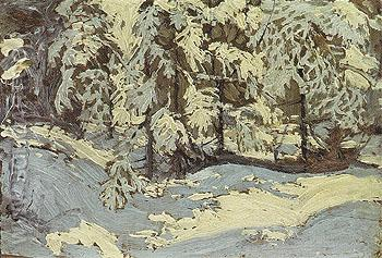 First Snow in Autumn c1915 - Tom Thomson reproduction oil painting