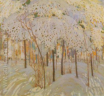 Snow in October c1915 - Tom Thomson reproduction oil painting
