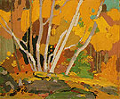 Autumn Birches c1916 - Tom Thomson reproduction oil painting