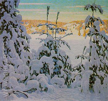 Snow II c1916 - Lawren Harris reproduction oil painting