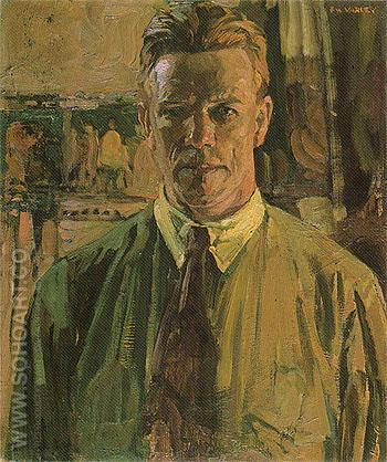 Self Portrait 1919 - Frederick Varley reproduction oil painting