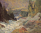 Falls Montreal River 1920 - J.E.H. MacDonald reproduction oil painting