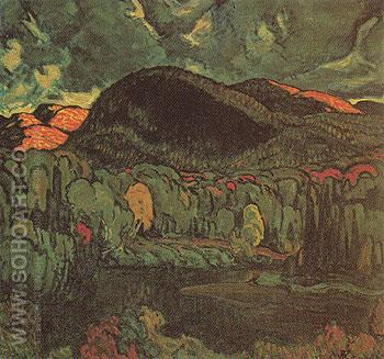 Gleams on the Hills c1920 - J.E.H. MacDonald reproduction oil painting