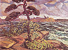 A September Gale Georgian Bay 1921 - Arthur Lismer reproduction oil painting