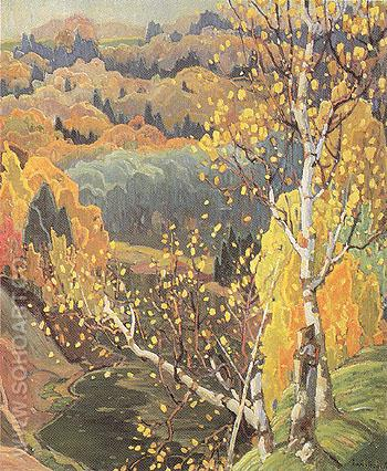 October Gold 1922 - Franklin Carmichael reproduction oil painting