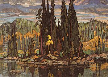 Isles of Spruce c1922 67 - Arthur Lismer reproduction oil painting
