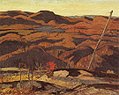 Algoma Rocks Autumn 1923 - A.Y. Jackson reproduction oil painting