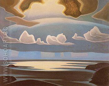 From the North Shore Lake Superior 1923 - Lawren Harris reproduction oil painting
