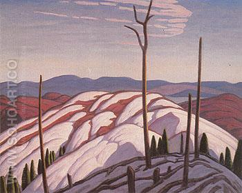 First Snow North Shore of Lake Superior 1923 - Lawren Harris reproduction oil painting