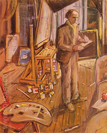 In My Studio 1924 - Arthur Lismer reproduction oil painting