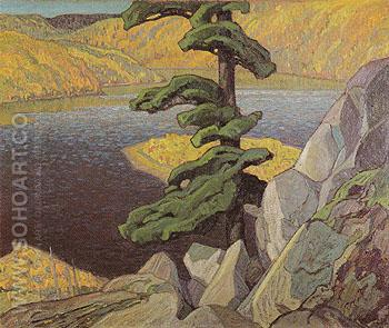 The Upper Ottawa Near Mattawa 1924 - Franklin Carmichael reproduction oil painting