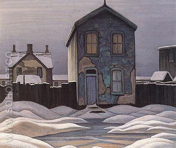 Grey Day in Town c1924 - Lawren Harris reproduction oil painting