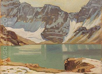 Lake McArthur Yoho Park c1924 - J.E.H. MacDonald reproduction oil painting