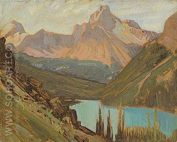 Cathedral Peak Lake OHara 1927 - J.E.H. MacDonald reproduction oil painting