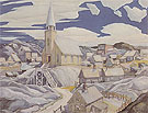 North Town 1927 - Franklin Carmichael reproduction oil painting