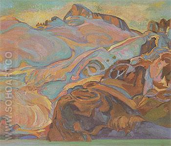 Sphinx Glacier Mt Garibaldi c1927 - Frederick Varley reproduction oil painting