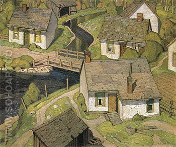 Mill Houses 1928 - A.J. Casson reproduction oil painting
