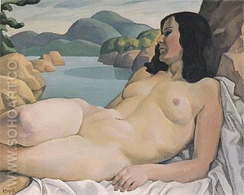 Nude in a Landscape c1929 - Edwin Holgate reproduction oil painting