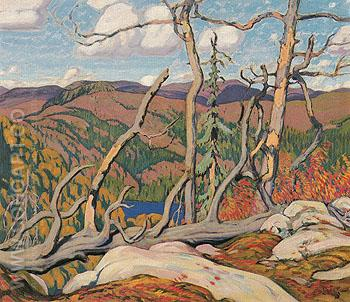 Northland Hilltop 1931 - J.E.H. MacDonald reproduction oil painting