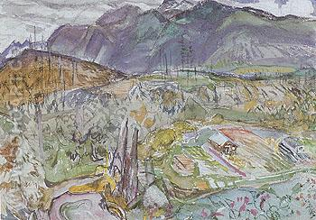 Lynn Valley c1932 - Frederick Varley reproduction oil painting