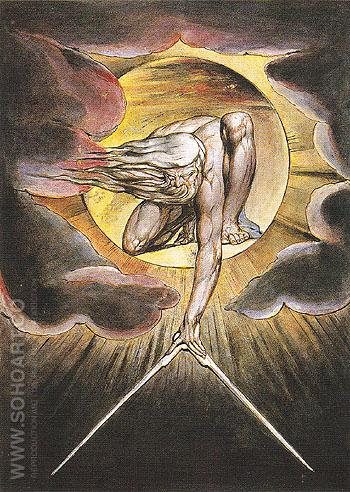 The Ancient of Days 1821 - William Blake reproduction oil painting