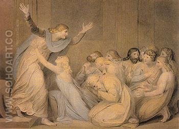 Joseph Making Himself Known to his Brethren c1784 - William Blake reproduction oil painting