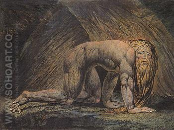 Nebuchadnezzar 1795 - William Blake reproduction oil painting
