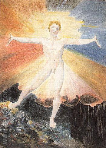 Glad Day or The Dance of Albion Ist engraved 1780 - William Blake reproduction oil painting