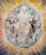 God Blessing the Seventh Day c1805 - William Blake reproduction oil painting