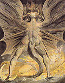 The Great Red Dragon and the Woman Clothed with the Sun c1806 - William Blake reproduction oil painting