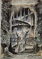 Dantes Divine Comedy The Inscription over Hell Gate c1824 - William Blake reproduction oil painting