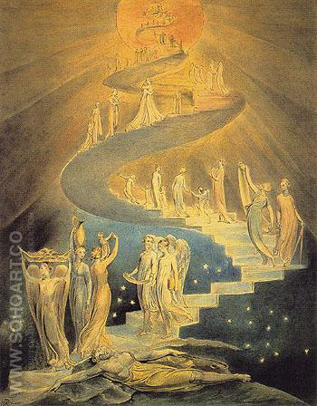 Jacobs Dream c1800 - William Blake reproduction oil painting