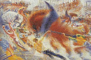The City Rises 1910 - Umberto Boccioni reproduction oil painting