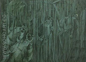 States of Mind III Those Who Stay 1911 - Umberto Boccioni reproduction oil painting